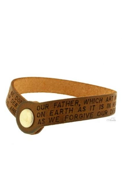 BRACELET PADRE NOSTRO IGIRA IN ENGLISH brown