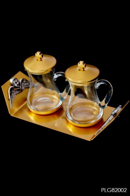 AMPUL - set 2 angels in gold plated 24K