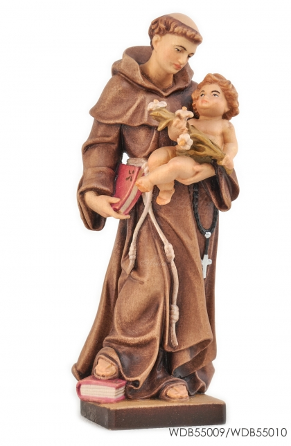 - Woodcarved Statue - St Anthony with Child Jesus
