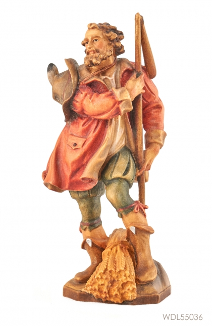 Woodcarved Statue St Isidor