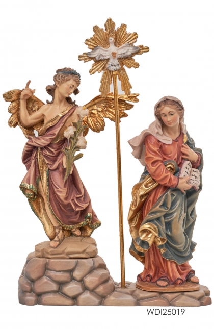 Woodcarved Statue Annunciation Group