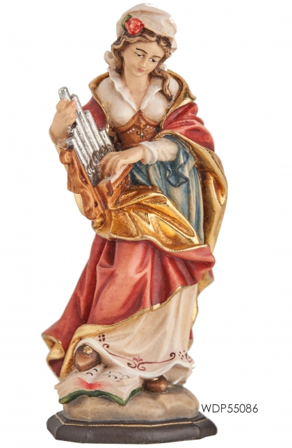 Woodcarved Statue St.Cecilia