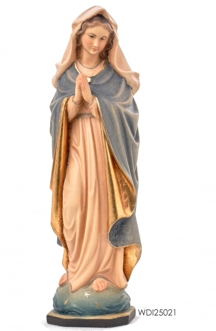 Woodcarved Statue Blessed Virgin