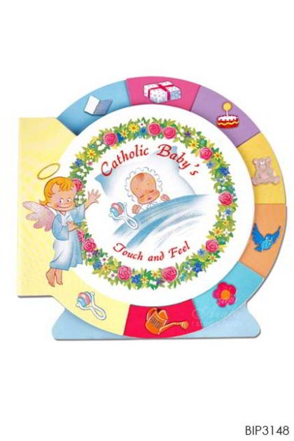 ENGLISH BOOK - ideal gift for Baptism or a birth Catholic Baby's - Touch and Feel