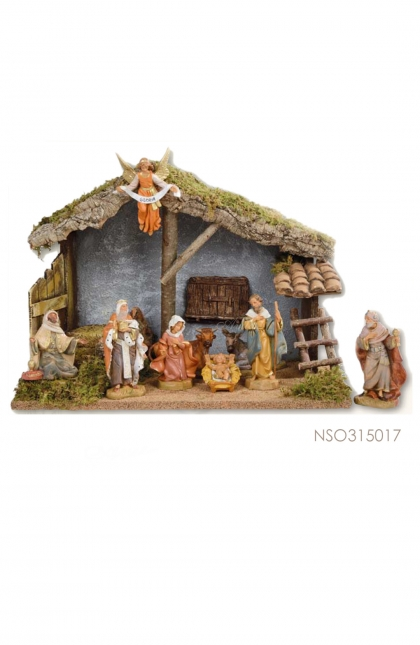 Nativity Set Stable + 9 pcs