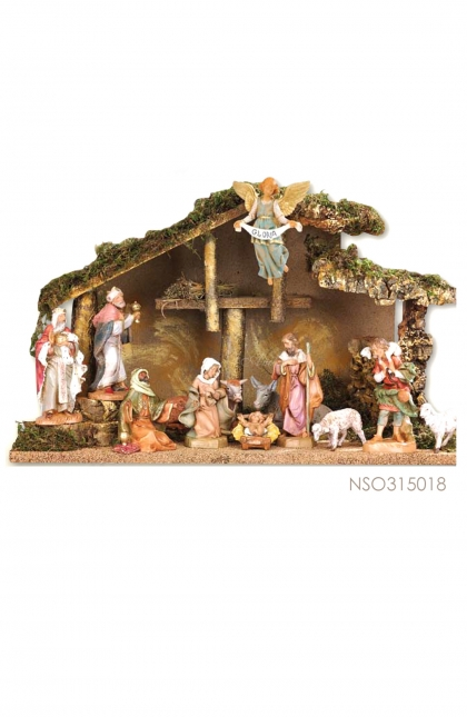 Nativity Set  ; Stable+9 pcs