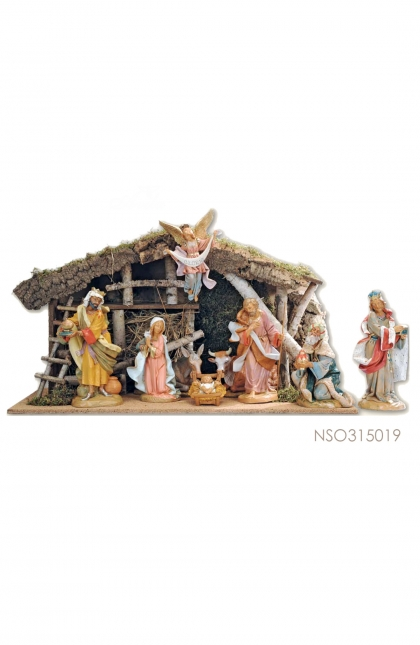 Nativity Set isi 9 pcs + Stable