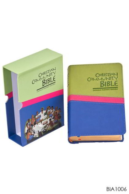 ENGLISH BIBLE Christian Community Bible. Popular size with Gold Index
