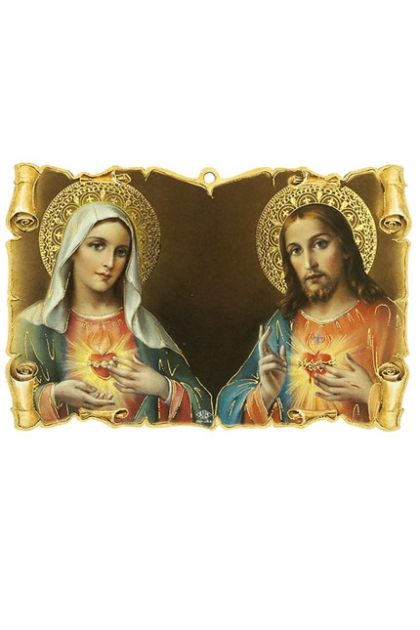 Scroll Jesus&Mary; Sacred Heart