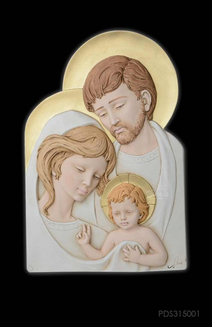 Holy Family Resin 26x39cm Color