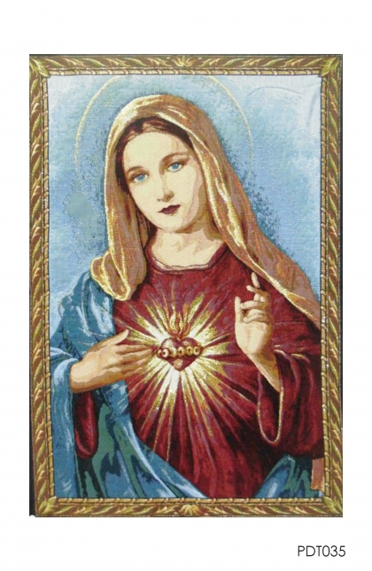 Hiasan Dinding - Tapestry Mary Sacred Heart