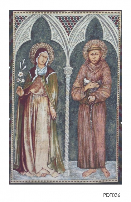 Hiasan Dinding - Tapestry St. Fransiscus & St. Claire