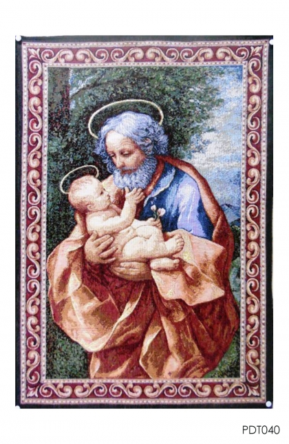 Hiasan Dinding Tapestry St Joseph & Child