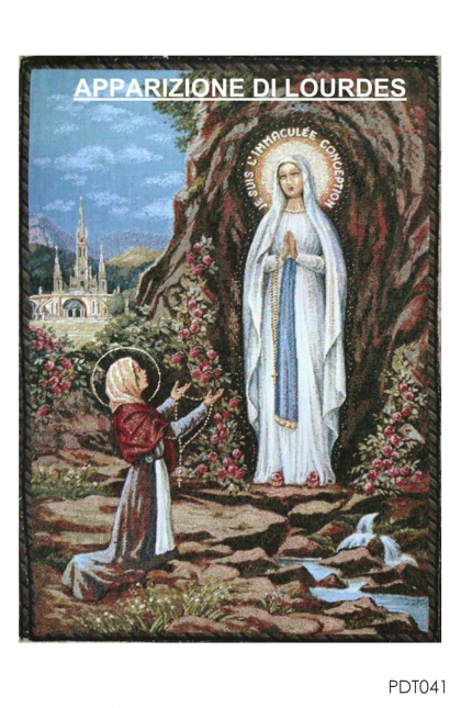 Hiasan Dinding Tapestry Apparation of Lourdes