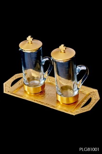 Ampul set antique old in gold plated 24K