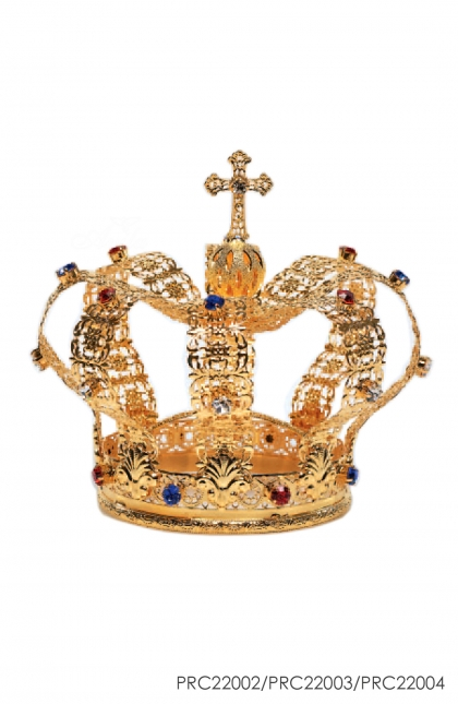 Imperial Crown for Mother Mary - terbuat dari tembaga, silver dan crystal