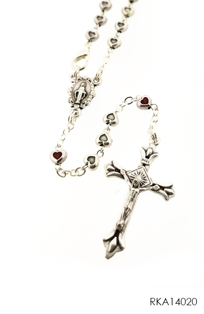 Rosary Metal Mini Heart