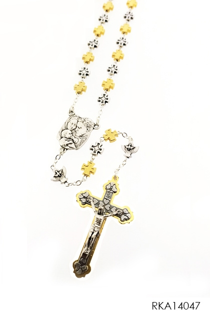Rosary Metal Cross Jerusalem