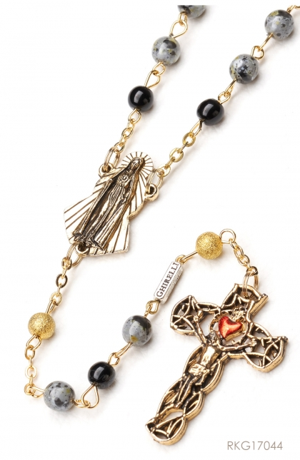 Rosary of Our Lady of Fatima - Bohemian glass