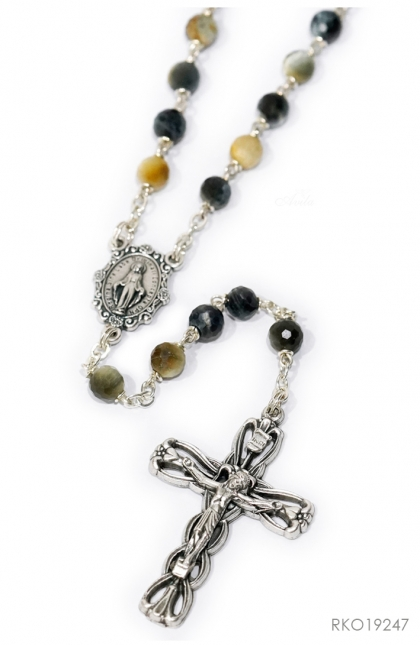 Rosary Tiger Eyes