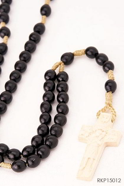 Rosary woodcarved with Vedele cross