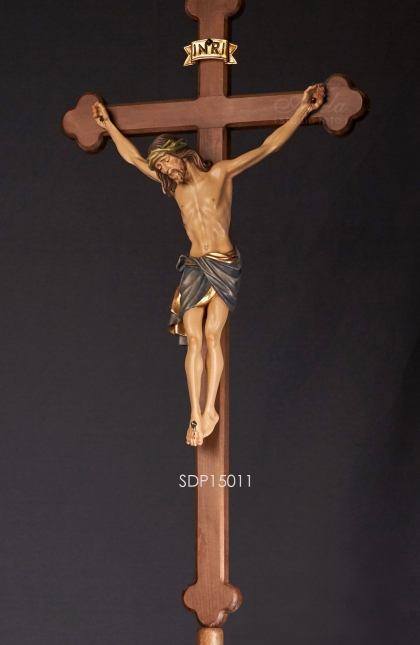 Processional cross corpus Siena on stained bent cross and base