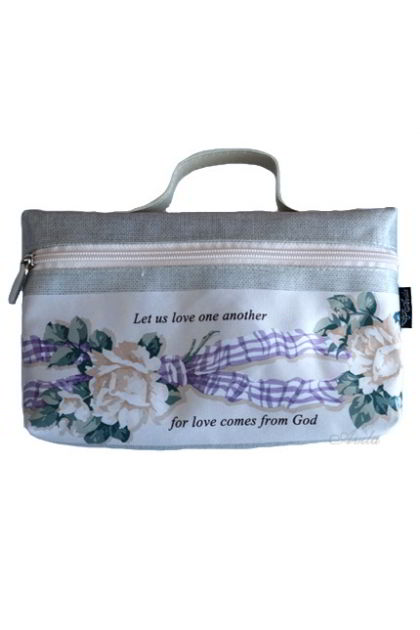 Tas / Dompet Tulisan Rohani - Let Us Love One Another