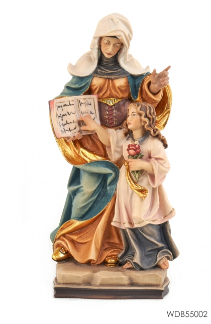 Woodcarved Statue St Anne with Mary
