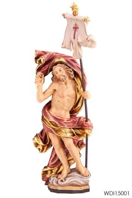 Woodcarved Statue Jesus Ressurection