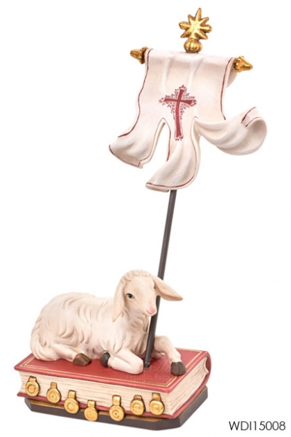 Woodcarved Statue Paschal Lamb