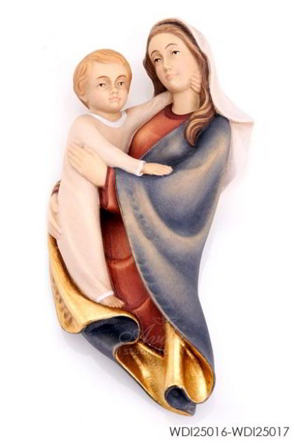 Woodcarved Statue - Madonna and Child semplice (Wall)