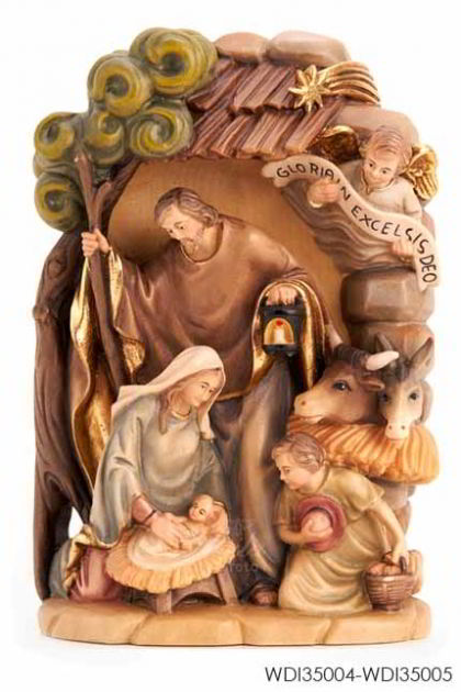 Woodcarved Statue - Holy Family of Peace