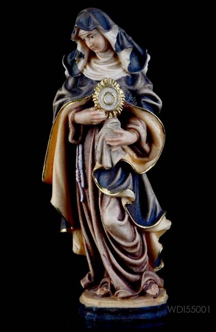 St. Clara - Woodcarved Statue