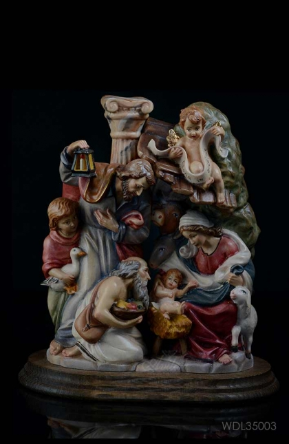 Holy Family by Perathoner 30cm Woodcarved