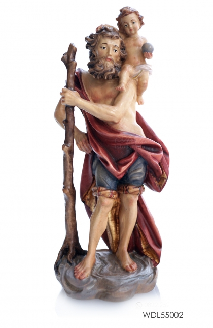 Woodcarved Statue St. Christopher