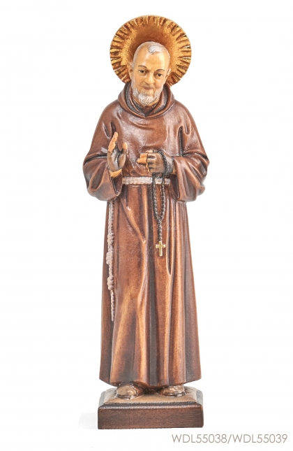 Woodcarved Statue St Padre Pio