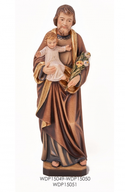 Woodcarved Statue - St.Joseph with Child
