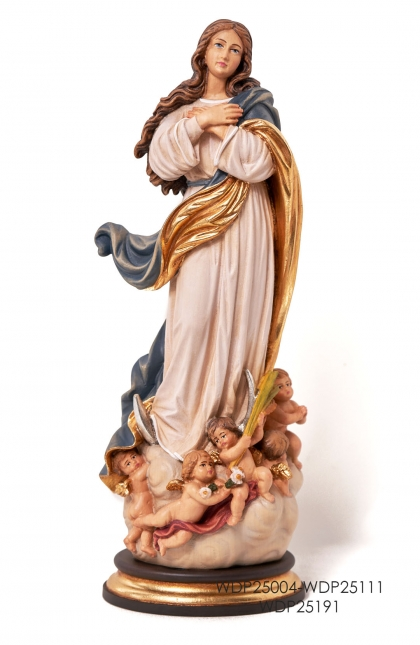 Woodcarved Statue assumption of Mary