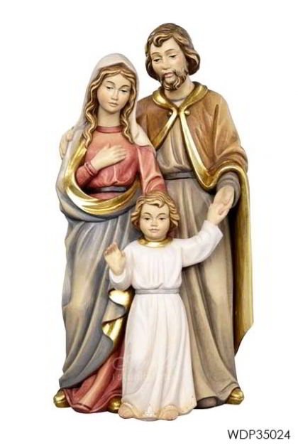 WOODCARVED STATUE - Holy Family with Jesus child