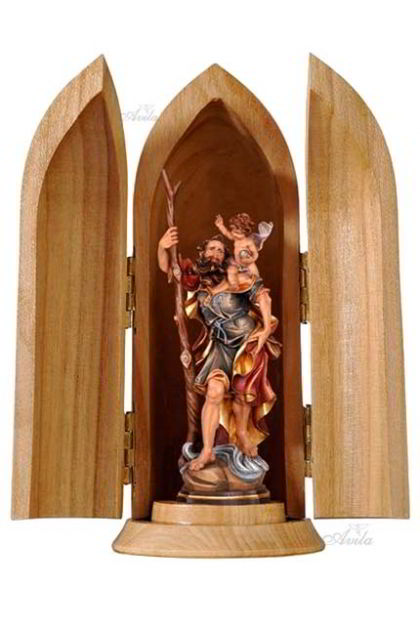 miniatur St. Christopher in Woodtube