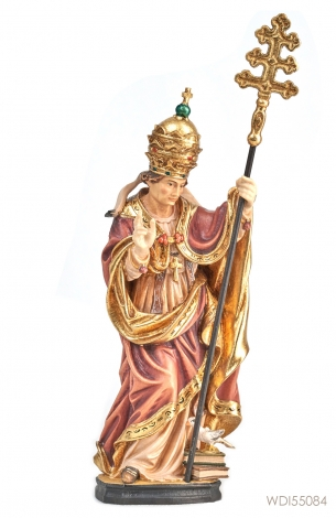 Woodcarved Statue St Gregory with Dove