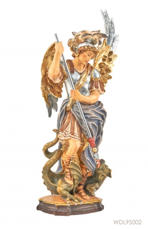 St Michael Woodcarved Statue